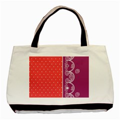 Lace Dots With Violet Rose Classic Tote Bag
