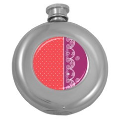 Lace Dots With Violet Rose Hip Flask (5 oz)