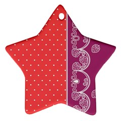 Lace Dots With Violet Rose Star Ornament (Two Sides)