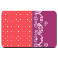 Lace Dots With Violet Rose Large Doormat