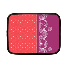 Lace Dots With Violet Rose Netbook Case (small)