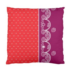 Lace Dots With Violet Rose Cushion Case (two Sides)