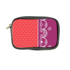 Lace Dots With Violet Rose Coin Purse