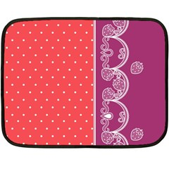 Lace Dots With Violet Rose Mini Fleece Blanket(Two Sides)