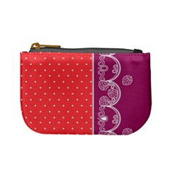 Lace Dots With Violet Rose Mini Coin Purse