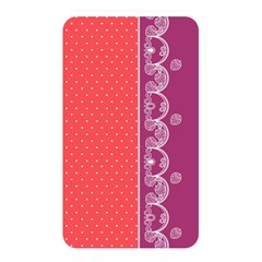 Lace Dots With Violet Rose Memory Card Reader (Rectangular)