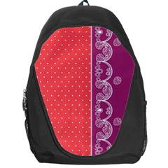 Lace Dots With Violet Rose Backpack Bag