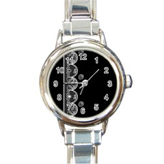 Strawberry Lace White With Black Classic Elegant Ladies Watch (Round)