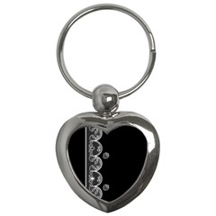 Strawberry Lace White With Black Key Chain (Heart)