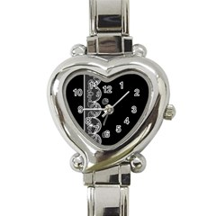 Strawberry Lace White With Black Classic Elegant Ladies Watch (Heart)