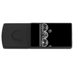 Strawberry Lace White With Black 4gb Usb Flash Drive (rectangle)