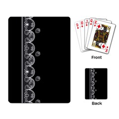 Strawberry Lace White With Black Standard Playing Cards