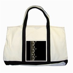 Strawberry Lace White With Black Two Toned Tote Bag
