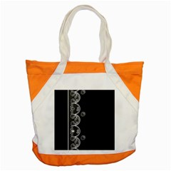 Strawberry Lace White With Black Snap Tote Bag