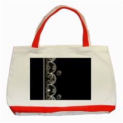 Strawberry Lace White With Black Red Tote Bag