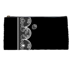 Strawberry Lace White With Black Pencil Case