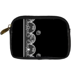 Strawberry Lace White With Black Compact Camera Case