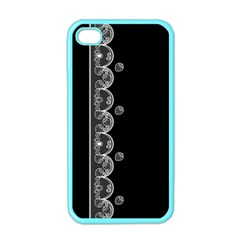 Strawberry Lace White With Black Apple Iphone 4 Case (color)