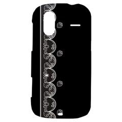 Strawberry Lace White With Black HTC Amaze 4G Hardshell Case