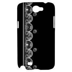 Strawberry Lace White With Black Samsung Galaxy Note 2 Hardshell Case