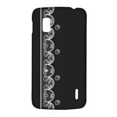 Strawberry Lace White With Black LG Nexus 4 E960 Hardshell Case