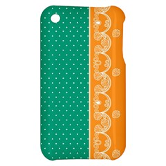 Lace Dots Gold Emerald Apple iPhone 3G/3GS Hardshell Case