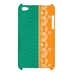Lace Dots Gold Emerald Apple iPod Touch 4G Hardshell Case