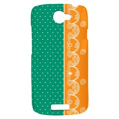 Lace Dots Gold Emerald HTC One S Hardshell Case