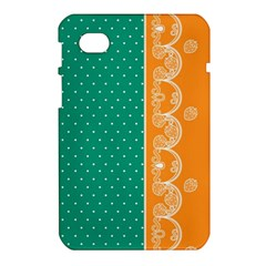 Lace Dots Gold Emerald Samsung Galaxy Tab 7  P1000 Hardshell Case