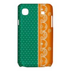 Lace Dots Gold Emerald Samsung Galaxy SL i9003 Hardshell Case