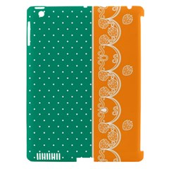 Lace Dots Gold Emerald Apple Ipad 3/4 Hardshell Case (compatible With Smart Cover)