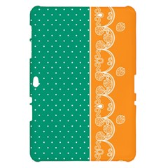 Lace Dots Gold Emerald Samsung Galaxy Tab 10.1  P7500 Hardshell Case