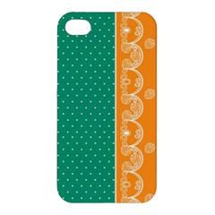 Lace Dots Gold Emerald Apple iPhone 4/4S Premium Hardshell Case