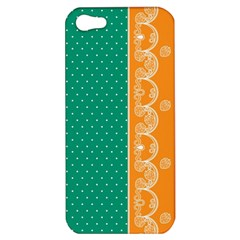 Lace Dots Gold Emerald Apple iPhone 5 Hardshell Case