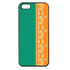 Lace Dots Gold Emerald Apple iPhone 5 Seamless Case (Black)