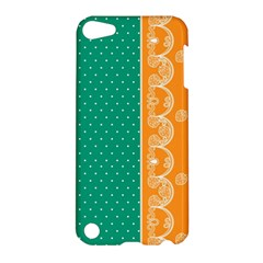 Lace Dots Gold Emerald Apple iPod Touch 5 Hardshell Case