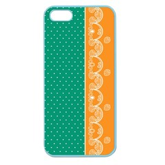 Lace Dots Gold Emerald Apple Seamless iPhone 5 Case (Color)