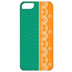 Lace Dots Gold Emerald Apple iPhone 5 Classic Hardshell Case
