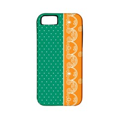 Lace Dots Gold Emerald Apple Iphone 5 Classic Hardshell Case (pc+silicone)
