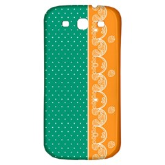 Lace Dots Gold Emerald Samsung Galaxy S3 S Iii Classic Hardshell Back Case