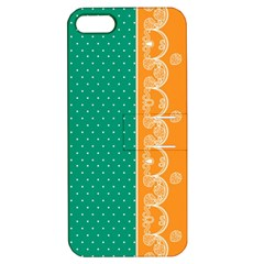 Lace Dots Gold Emerald Apple iPhone 5 Hardshell Case with Stand