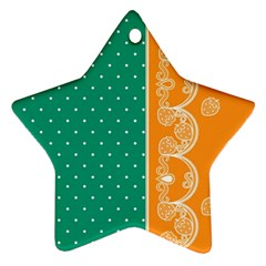 Lace Dots  With Black Pink Ceramic Ornament (star)