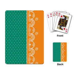 Lace Dots  With Black Pink Standard Playing Cards