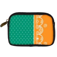 Lace Dots  With Black Pink Compact Camera Case