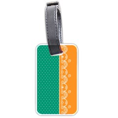 Lace Dots  With Black Pink Single Sided Luggage Tag