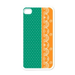 Lace Dots  With Black Pink White Apple Iphone 4 Case