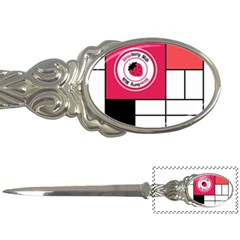 Brand Strawberry Piet Mondrian White Paper Knife