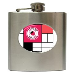 Brand Strawberry Piet Mondrian White Hip Flask