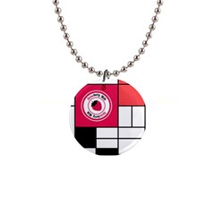 Brand Strawberry Piet Mondrian White Mini Button Necklace
