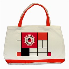 Brand Strawberry Piet Mondrian White Red Tote Bag